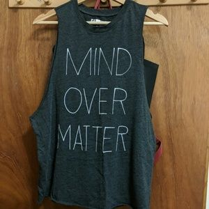 Forever21 Mind Over Matter Muscle Tank Top